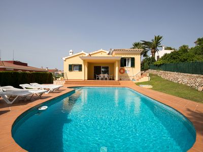 Photo for Near the beach with sea view and pool – Villa Llebeig