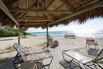Private beach for use by resort guests, located  125 yards from Villa Y