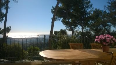 Photo for NICE Hills has CANTARON Villa 87m2, quiet terrace with panoramic views