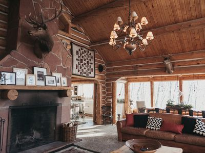 Photo for Luxurious Log Cabin, New Kitchen, Hot Tub