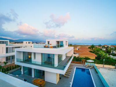 Photo for Modern Architecture & Cyprus Beauty: 5BR Villa with Sweeping Sea Views