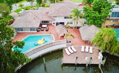 Photo for Waterfront home w tropical backyard