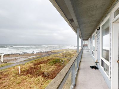 Photo for Waterfront, dog-friendly home w/ a gas fireplace & breathtaking ocean views!