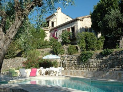 Photo for Traditional Provençal farmhouse w/pool, 5000-m2 garden, absolute calm, view