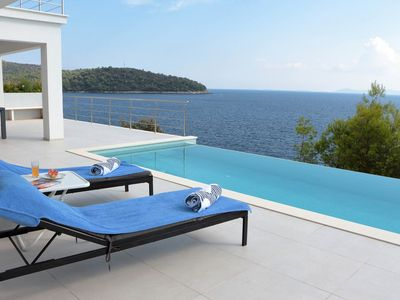 Photo for Modern Villa Carpe Korcula, next to the sea