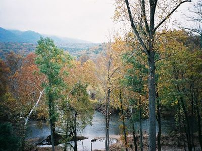Photo for Come enjoy your private getaway amongst the Mountains and River.