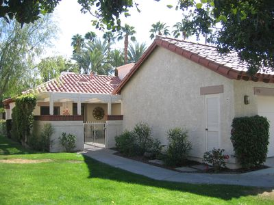 Photo for Bungalow style 2 bedrm, Large East Patio plus Entry courtyard, walk to clubhouse