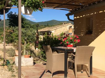 Photo for Very quiet, comfortable apartment overlooking the Mont Ventoux