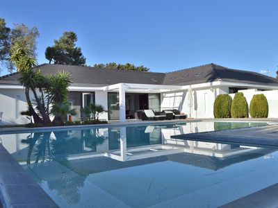Photo for MODERN 6 BEDROOM VILLA 34121545 HUGE PRIVATE POOL, ONLY 500m FROM THE BEACH IN GUADALMINA BAJA, MARBELLA