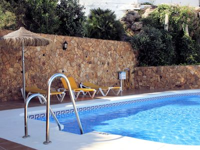 Photo for Apartment with pool, excellent location near Burriana Beach, Nerja Costa Del Sol