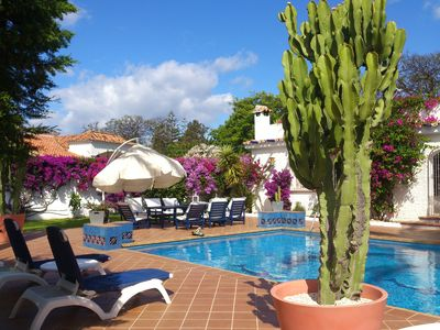 Photo for 1750m2, Private Pool, 350m to the beach, Family Villa