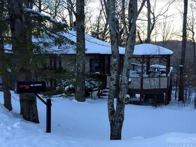 Photo for New listing! Round House, Lots of Windows! Level Entry, 0.3 mi to Ski Beech!