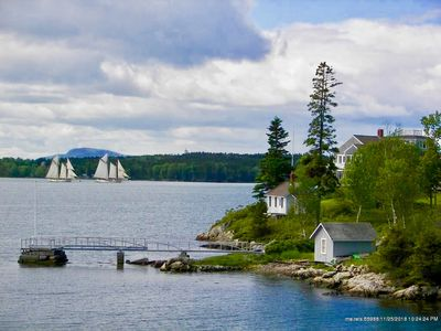 Photo for Baypoint Cottage- A Sailors Paradise! 8000ft of private shorefront on the Fox Island Thorofare.