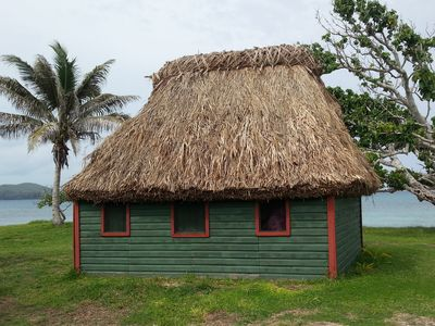 Photo for Beachfront Traditional Bure in Authentic Yasawa Village