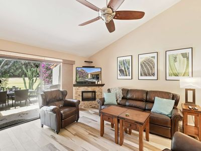 Photo for Newly Renovated! - Spacious Back Patio! - Golf, Pools, Pickle Ball & Tennis!  Palm Desert Resort CC