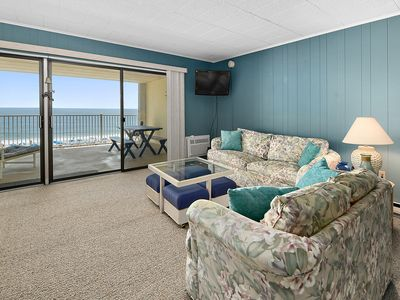 Photo for Direct Oceanfront with outdoor pool, and great big balcony and free WiFi.