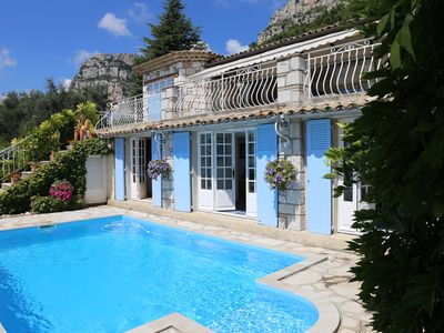 Photo for Provencal villa with stunning views Cote d'Azur Nice Antibes Cannes swimming pool