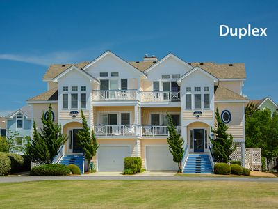 Photo for Twice The Fun 1: 4 Bedroom Duplex with hot tub, community pool, tennis courts and gated community.