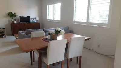 Photo for Comfortable apartment in central location, close to shops, transport and beach.