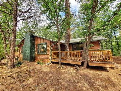 Photo for Ohana Lodge - Vintage Log Cabin in Pinetop Country Club