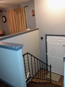 staircase at the front door