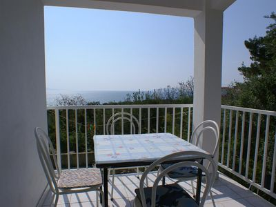 Photo for Two bedroom apartment with terrace and sea view Podaca, Makarska (A-2634-a)