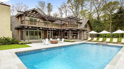 Photo for New Listing: Luxury Home Close to Beaches, w/ Heated Pool, Wood Burning Oven