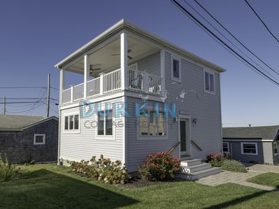 Photo for Modern and New Beach Cottage, Spacious, Walk to Private Beach, Central A/C