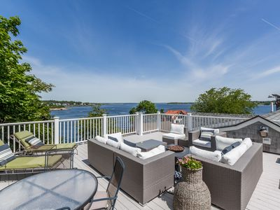 Photo for Luxury 6BR w/ Ocean Views, Roof Deck, Private Hot Tub & Direct Beach Access