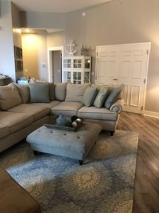 Living room with oversized sectional