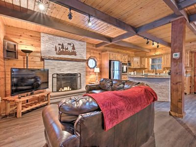 Photo for NEW! Luxury Cabin w/Deck - 2 Blocks to Locust Lake