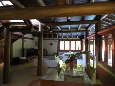 Photo for Balinese style house, modern, cable tv, air conditioning, Wi-Fi, pool