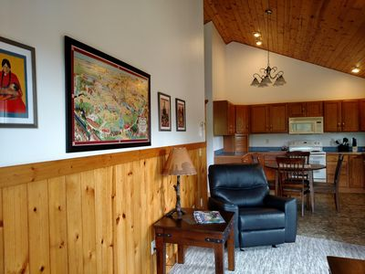 OPEN CONCEPT FLOOR PLAN & CATHEDRAL CEILINGS MAKE THE CABIN ROOMY & COMFY