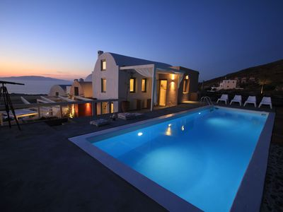 Photo for 270 Oia's View House IV, private swimming pool & garden, Sunset view