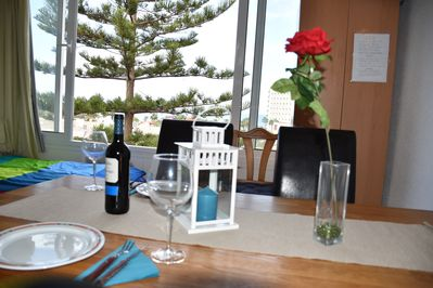 Dining area with dreamful sea-view