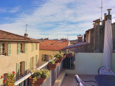 Photo for Possibly The Sunniest Roof Terrace In Old Antibes