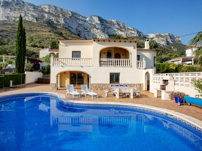 Photo for Family  House. Nr Denia with fabulous views to the sea, on two levels, sleeps 8