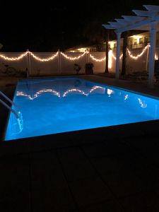 Relax with a nightly swim in your own private oasis.
