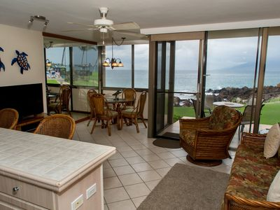 Photo for Sweeping Ocean Views Through Large Glass Windows Connecting to your Lanai