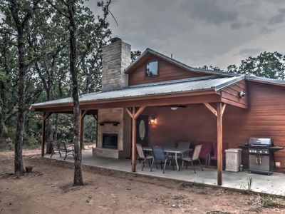 Photo for Trinity Trails: Cedar Springs Cabin on 6 Private Acres On Lake Aquilla