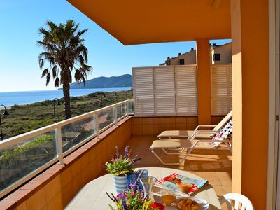 Photo for Spectacular sea view. Community Pool and garden.Parking. Wifi.