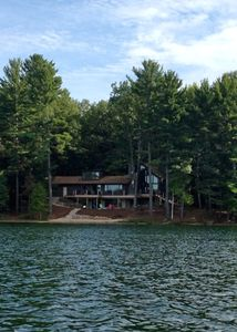 Photo for Traverse City, Michigan; Luxury on all sports Spider Lake; 200 ft sandy beach