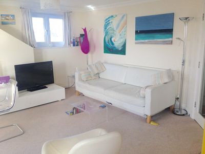 Photo for 27/4 £499 ST IVES, WAVE 5 OCEAN BREEZE, PENT. APARTMENT,AWESOME BAY VIEWS(GARAGE