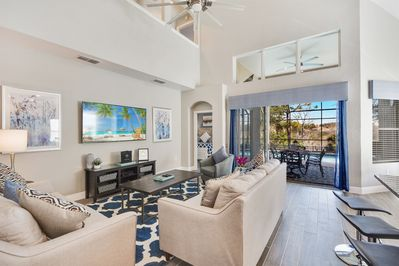 TOTALLY RENOVATED In 2021! Private lanai, pool, spa tub with lake views and no rear neighbors.