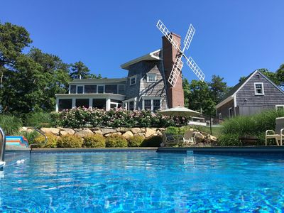 Photo for Private haven with heated salt-water pool and windmill!