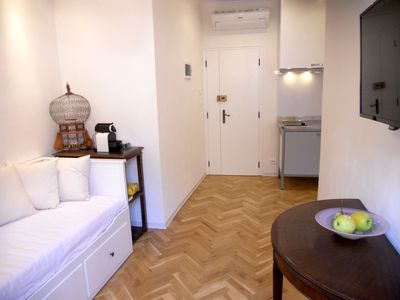 Photo for SAN MARCO square cute & RESTORED entire apt WiFi A / C one bedroom + kitchen + bath