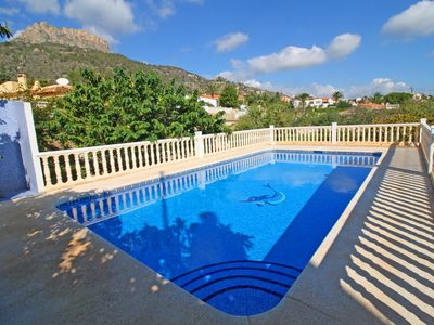 Photo for Cozy villa Centell with private swimming pool and large terrace