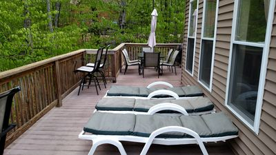 deck lounging area