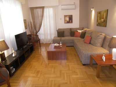 Photo for Pedion Areos Park 3 - Metro in 40m - 3 Bedroom (or 4) apt - Athens Center