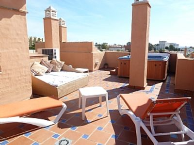 Photo for Luxury Penthouse Apartment (135sq.m), Large Roof Terrace Housing Private Jacuzzi